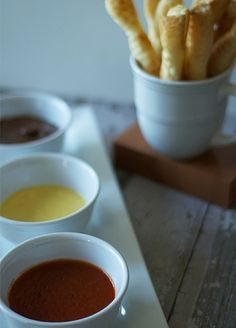 Puff Pastry Twists with Sweet & Savory Dipping Sauces Tailgating Ideas, Good Food, Yummy Food, Dipping Sauces, Star Food, Classic Recipe, Money Today, Summer Parties, Fabulous Foods