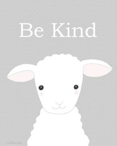Nursery Art Printable Cute Lamb Illustration Instant Download Sheep Nursery Print Gender Neutral Nursery Pastel Grey Children's Wall Decor by mikaart on Etsy https://www.etsy.com/listing/256554750/nursery-art-printable-cute-lamb