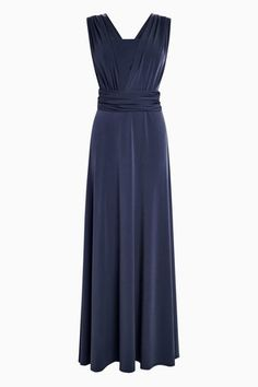 Buy Multiway Bridesmaid Dress from the Next UK online shop Navy Multiway Bridesmaid Dress Multiway Bridesmaid Dress, Bandeau Led, Next Uk, Fitted Bodice, Uk Online, Body Shapes, Wedding Day, Bridal, Formal Dresses