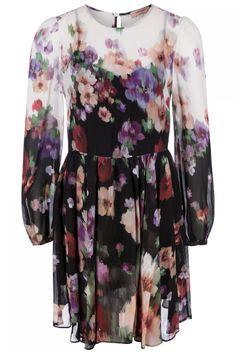 Twin Set Damen Kleid mit Blumenprint Schwarz | SAILERstyle Twin Set, Pullover, Elegant, Dresses With Sleeves, Long Sleeve, Fashion, Under Dress, Knit Jacket, Jackets