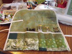 Sally Sews Something: Patchwork Paintbrush Roll :)