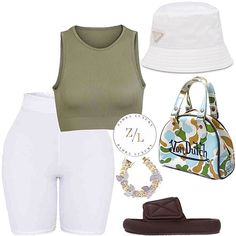 Gabrielle' M. Swag Outfits For Girls, Chill Outfits, Cute Casual Outfits, Cute Summer Outfits, Girly Outfits, Fashion Outfits, Womens Fashion, Polyvore Outfits, Swagg