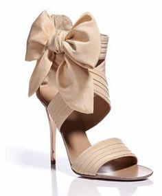1aecb587bcdd high heels with a bow. yes! Chanel Blush