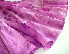Tiered Skirt, Orchid Purple Peasant Skirt, Violet Tie Dye Maxi by DelhiDaze, $32.00