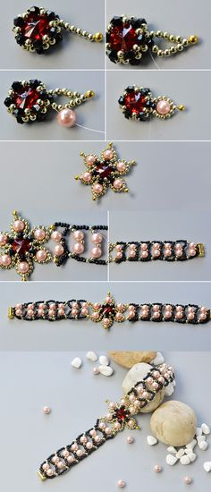 Wanna this flower beaded bracelet?The tutorial will be released by LC.Pandahall.com soon.