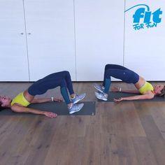 Unsere Trainerinnen Anna-Lena und Nicole zeigen dir effektive Übungen in einem Workout, mit denen d Fitness Workouts, Yoga Fitness, At Home Workouts, Fitness Tips, Fitness Motivation, Health Fitness, Extreme Fitness, Fitness Humor, Health Diet