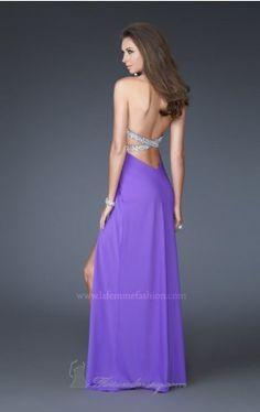 jersey halter gown femme La Femme 16093 Dress