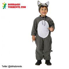 Disfraz de Lobo Gris para niños. Tanto por su acabado como por su precio es ideal para fiestas de fin de curso o grupos .