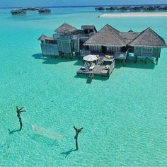 I want to take a holiday here at Gili Lankanfushi in the Maldives! Tag your vacation squad! Photo cred: by beforeidie Vacation Places, Vacation Destinations, Dream Vacations, Vacation Spots, Places To Travel, Vacation Wear, Vacation Travel, Travel Goals, The Places Youll Go