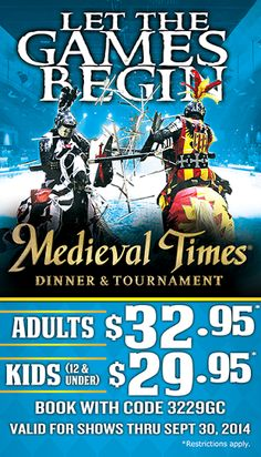 3 Reasons to Fall for Medieval Times *Coupon Code and Ticket Giveaway via @puzzledpalate