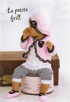baby knitting pattern for   baby / girl frilly bolero hat and mary jane shoes.  size 16 / 26 inch chest double knit yarn