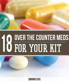 Essential Multivitamins For Long Term Disaster | Emergency Preparedness Tips and Ideas by Survival Life at http://survivallife.com/2015/07/17/18-otc-meds-for-your-kit/