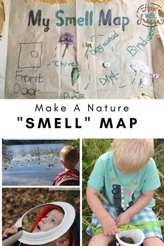 This is such a great five senses activity for toddlers and preschoolers. Get your little one outside and enjoying nature and make your very own smell map. Such a fun spring activity for kids! Five Senses Preschool, 5 Senses Activities, Fun Activities For Toddlers, Nature Activities, Spring Activities, Sensory Activities, Toddler Preschool, Toddler Crafts, Kids Crafts