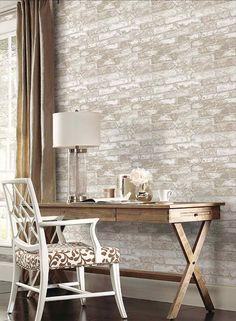 Interior Place - Soft Grey RN1029 Rustic Brick Wallpaper, 38.50 CAD (http://www.interiorplace.com/soft-grey-rn1029-rustic-brick-wallpaper/)