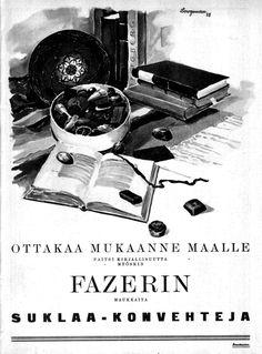 PopuLAARI: Fazerin suklaakonvehteja (1925)