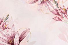 Pink amaryllis pattern background vector | premium image by rawpixel.com / Kappy Kappy