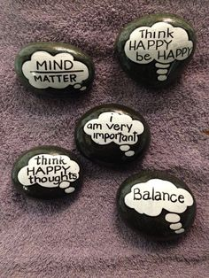 Quote painted rocks