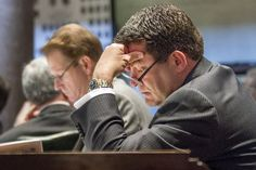FILE - In this April 17, 2013, file photo, state Sen. Mark Green, R-Clarksville, sits at his desk in the Senate chamber in Nashville, Tenn. (AP Photo/Erik Schelzig, File)