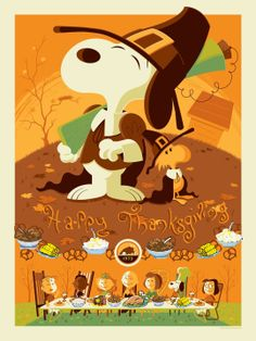 HaPpY ThAnKsGiViNg!!!  #Thanksgiving #snoopy #woodstock #peanuts