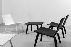 Lounge chair and side table by Harri Koskinen for Artek
