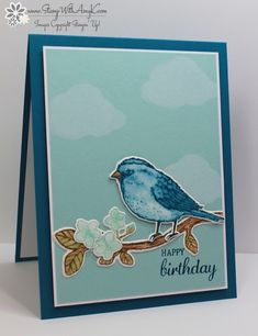 I used the Stampin' Up! Best Birds stamp set and Birds & Blooms Thinlits Dies to create my card to share today. Love this stamp set and love that it's available in a bundle with th…