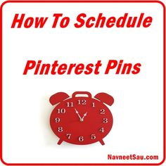 An ultimate guide to schedule #pinterest pins. #socialmedia