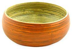 Bamboo Wood Serving Bowl, Orange on OneKingsLane.com