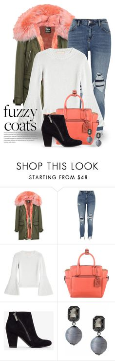 """Fuzzy Coats 4762"" by boxthoughts ❤ liked on Polyvore featuring River Island, Brock Collection and Reed Krakoff"