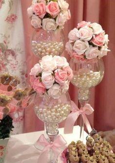 Baby shower centros de mesa vintage 47 Ideas for 2019 Bridal Shower Centerpieces, Wedding Table Decorations, Party Centerpieces, Floral Centerpieces, Baby Shower Decorations, Floral Arrangements, Vintage Wedding Centerpieces, Wedding Crafts, Diy Wedding