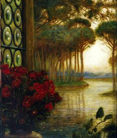 Detail from Love's Messenger, Marie Spartalli Stillman, c. 1885