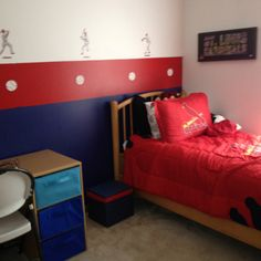 St Louis Cardinals room- a surprise for my little guy.