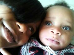 Black babies with blue eyes