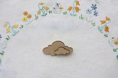 Wooden cloud badge, £4.00 by Tigerlillyquinn