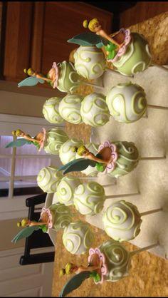 TINKERBELL CAKE POPS.