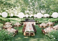 outdoor wedding reception layout idea