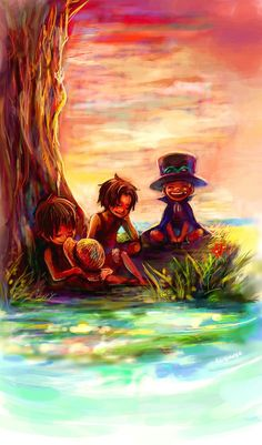 Ace, Luffy and Sabo #asl #one piece