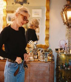 I'm going to be 67, and I still wear the same jeans. I like to feel comfortable; I like to feel close to myself, and I think that's the way I've always dressed; I haven't really changed. And I love clothes; I love beautiful clothes; I love fashion, but it doesn't necessarily have to be on my body for me to appreciate it. I love to look at it, but it might not look good on me, so I'll put on my Levi's and a groovy sweater.  Photo: Petra Collins