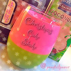 Christmas Cake Protein Shake!  Have your cake and DRINK IT TOO! It's #ParfaitTuesday with @NikiaDyson!  ❤️This shakified Pastel Christmas #Parfait is made with @Cellucor #CorFettiCakeBatter, unsweetened coconut milk, and frozen banana. Half was mixed with matcha green tea and the other half was mixed with frozen organic raspberries!  ❤️❤️  Flavors✅Check! Colors✅Check!  Happy✅Check!  ❤️HAPPY HOLIDAYS!❤️