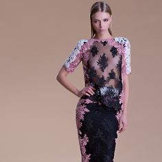 Black White Pink Pret a Porter or Couture?  Shop online: www.gabrielefioruccishop.com  #pfw #couture #pizzo