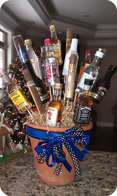 DIY Man Alcohol Bouquet