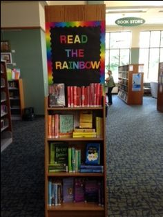 Read the Rainbow Library Display.