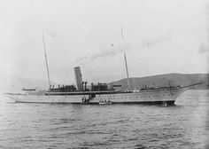 The steam yacht Warrior, date and location unknown. This may have been owned by Alexander S. Cochran.