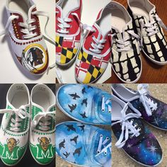 Custom hand painted shoes by ShoesbySues on Etsy