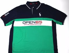 POLO RALPH LAUREN 3XLT Custom Fit BIG PONY Mesh Shirt USA Offshore Racing, $129 #PoloRalphLauren #PoloRugby