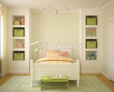 Too Cute, little girl's room that would grow into a big girl's room!