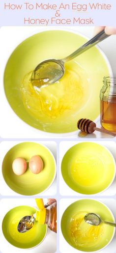 egg white & honey face mask- Just did this, it completely shrunk my pores and my skin is glowing. The best honey for your Honey face mask is Manuka Honey from apihealth. Beauty Care, Diy Beauty, Beauty Skin, Beauty Hacks, Beauty Ideas, Juice Beauty, Beauty Secrets, Egg Face Mask, Clear Skin Tips