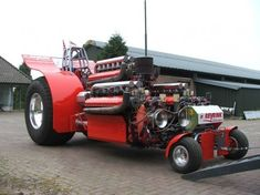 Pulling tractor with 3 (incredible showcase of USA engineering) Allison V12 engines... Who wouldn't want to drive this? lol