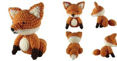 "Welcome back to Free Pattern Friday! This week's item is a 6"" tall fox amigurumi. You can download the PDF pattern for free on  Rav..."