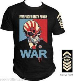 FIVE FINGER DEATH PUNCH - War T SHIRT - NEW