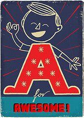 Vintagey alphabet cards!